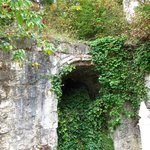 One of the original lime kilns. The purest limestone was quarried here and burned for lime.