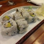 Sushi roll with mackerel