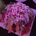 Mountain of nachos.