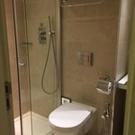 Bath/shower room. Very clean if a little small with lovely L'occitane toiletries provided 😊