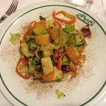 Carpaccio di tomini e verdure