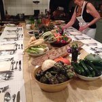 Chefs table and cooking class