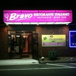 Entrance to Bravo Ristorante