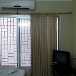 Window opens to wall but rooms are clean comfortable.