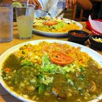 Shrimps in chile verde sauce!