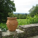 Beautiful vista view from Fursdon House and gardens