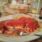 Chicken Parm w/ spaghetti.