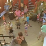 Little pirate water gun fight on the main deck.