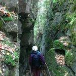 Tour through caves