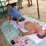 Full body beach massage