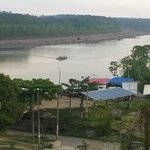 View of the Tambopata River from the deck at Don Carlos