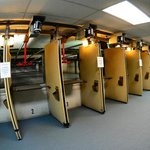 A view of our rifle range.  This is the longest indoor range in the State of Michigan