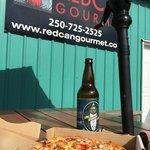 BBQ chicken pizza and Tofino Brewing Company's Tuff Session Ale