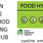 We have been awarded the maximum food hygiene rating of 5
