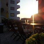 Terrasse Sonnenuntergang
