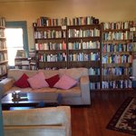 Upstairs with books