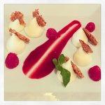 Cioccolato bianco Ivoire con lamponi