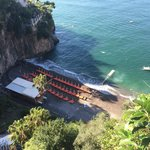 Beautiful Arienzo Beach from top of the steps