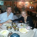 Harriet Green Group Chief Executive dinning at Curry Night Restaurant