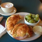Breakfast Croissant & Cappuccino