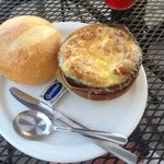 French Onion Soup & Yummy Fresh Crusty Bread