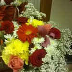 Beautiful flowers in the room