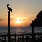 Sunset from new Dock and Palapa