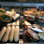 A great selection of freshly prepared wraps, baps, sandwiches etc
