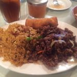 Crispy Beef and Fried Rice