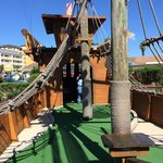 One hole is even IN the pirate ship!