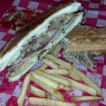 Monk's Bar & Grill - On the square - El Cubano & Fries