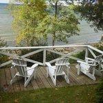 """2nd"" deck overlooking Lake"