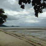 dark coarse sand beach