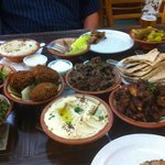 Our mezze - for two people but plenty for three yum