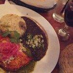 Pollo Yucatan and sangria... mmmm...