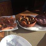 Serrano Ham, Garlic Mushrooms, Christorra Sausage in Red Wine Sauce