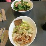 Two customized salads