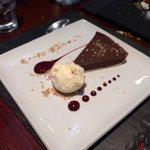 Chocolate and almond tart! Stunning!