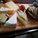 an amazing cheese board