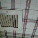 Dusty exhaust fan vent