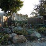 Hitching post garden