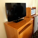 TV set and dresser