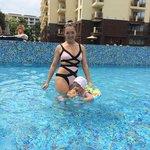In pool kids