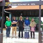 infront of resort