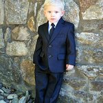 """Our """"GQ"""" ring bearer at the resort"""