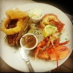 One of the specials - surf and turf!