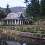 The Temple out side on bank of the lake
