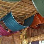 beautiful colourful ceiling