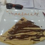 Belgian chocolate crepe