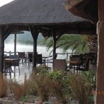 outside eating area, with views of the Bushman river